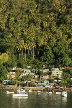 Town of Soufriere, St. Lucia, Windward Islands, West Indies, Caribbean, Central America by Richard Cummins