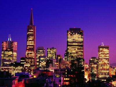 Transamerica Pyramid and City Buildings, San Francisco, United States of America by Richard Cummins