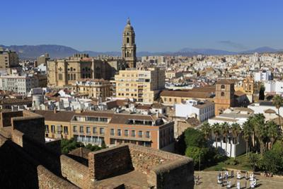View from Alcazaba Palace, Malaga, Andalusia, Spain, Europe by Richard Cummins
