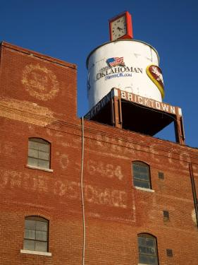 Water Tank, Bricktown District, Oklahoma City, Oklahoma, United States of America, North America by Richard Cummins