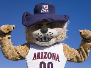 Wilbur the Football Mascot, Tucson Rodeo Parade by Richard Cummins
