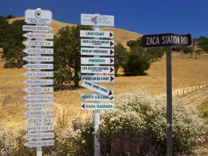 Winery Signs, Santa Ynez Valley, Santa Barbara County, Central California by Richard Cummins