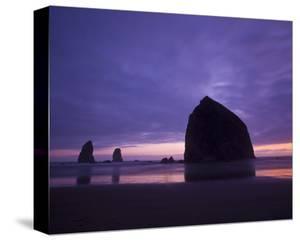 Cannon Beach Purple Sunset by Richard Desmarais