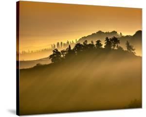 Tuscan Silhouette Landscape by Richard Desmarais