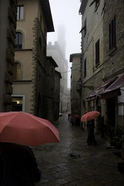 Volterra, Red Umbrellas by Richard Desmarais