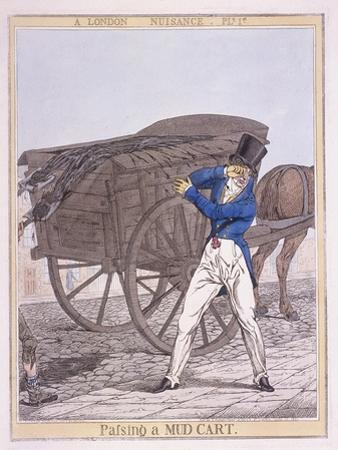 Passing a Mud Cart, 1821 by Richard Dighton
