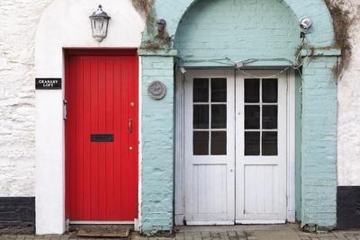 Doors in Kinsale Town, County Cork, Munster, Republic of Ireland, Europe