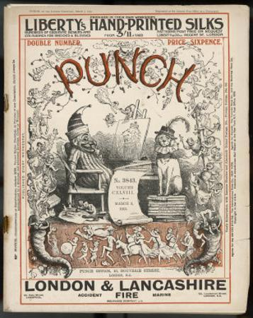 Classic Punch Cover with Mr. Punch and His Dog Toby by Richard Doyle