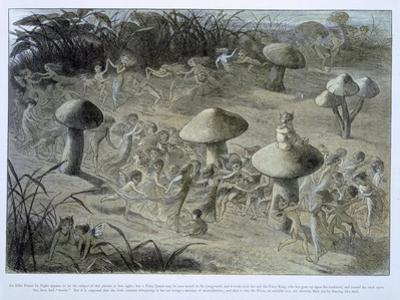 Elfin Dance by Night, in Fairyland: A Series of Pictures from the Elf-World, Allingham and Lang by Richard Doyle
