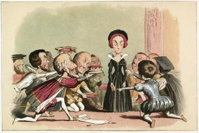 Lady Jane Dudley Pressed to Accept the Crown by Richard Doyle
