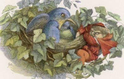 Mischievous Elf Raids a Birds' Nest by Richard Doyle