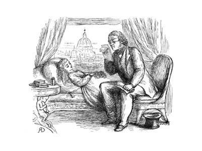 Thackeray Reading by Richard Doyle