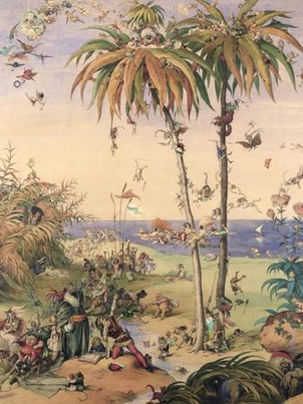 The Enchanted Tree, a Fantasy Based on 'The Tempest', 1845 by Richard Doyle