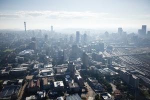 Aerial View of Johannesburg, South Africa by Richard Du Toit