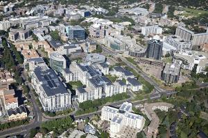 Aerial View of Sandton Cbd, South Africa by Richard Du Toit
