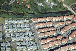Aerial View of Townhouse Complex, South Africa by Richard Du Toit