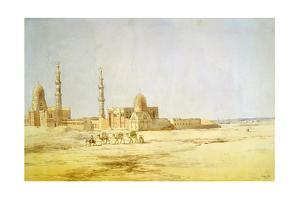 Tombs of the Caliphs, Cairo, C1842 by Richard Dudd