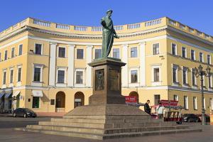 Duke De Richelieu Monument, Odessa, Crimea, Ukraine, Europe by Richard
