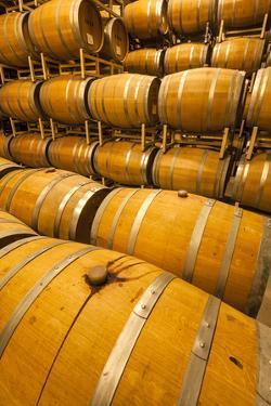 Barrel Room of a Washington Winery, Yakima Valley, Washington, USA by Richard Duval