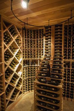 Bottle Cellar at Walla Walla Winery, Walla Walla, Washington, USA by Richard Duval