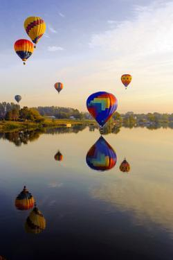 Dawn Light at Prosser Balloon Rally, Prosser, Washington, USA by Richard Duval