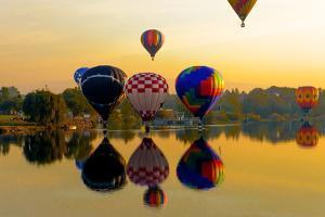 Dawn Light at Prosser Balloon Rally, Prosser, Washington, USA by Richard Duval
