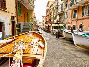 Fishing Boats in Manarola, Cinque Terre, Tuscany, Italy by Richard Duval