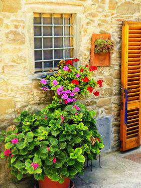 Late Summer in the Tuscan Village of Volpaia, Tuscany, Italy by Richard Duval