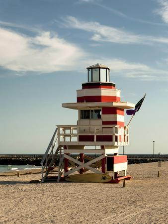 Lifeguard Station, South Beach, Miami, Florida, USA