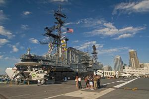 Retired Aircraft Carrier Uss Midway, San Diego, California, USA by Richard Duval