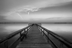 Sunrise on the Pier at Terre Ceia Bay, Florida, USA by Richard Duval