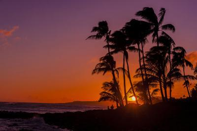 Sunset at Poipu Beach, Kauai, Hawaii, USA by Richard Duval