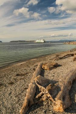 USA, Washington State, Mukilteo. Ferry to Whidbey Island on the Puget Sound by Richard Duval