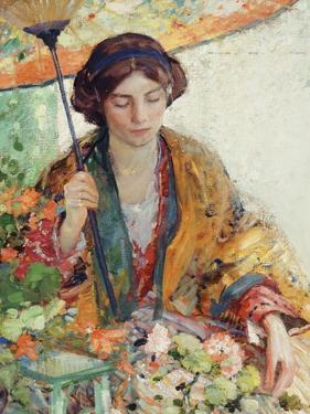 Woman with Parasol by Richard Edward Miller