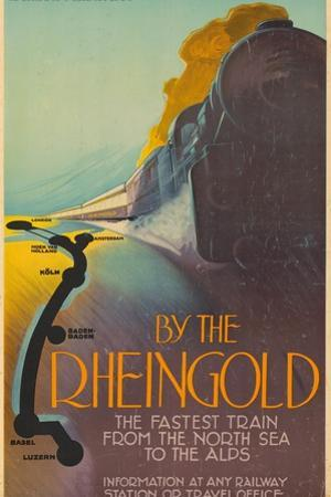 Deutsche Reichsbahn By the Rheingold. Europe, Germany, 1928 by Richard Friese