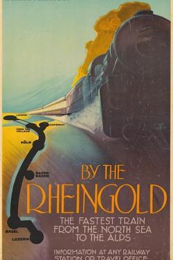 Deutsche Reichsbahn By the Rheingold. Europe, Germany, 1928 by Richard Friese