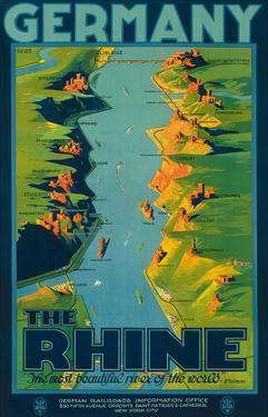 The Rhine, Germany c.1950s by Richard Friese