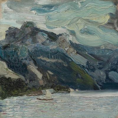 Lake Traun with Mountain Sleeping Greek, 1907