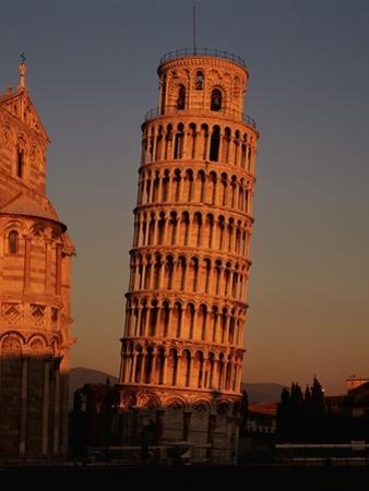 Exterior of the Leaning Tower of Pisa