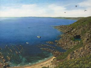 August Afternoon - Whitsand Bay from Rame Head Cornwall by Richard Harpum