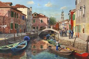Burano Canal Venice by Richard Harpum