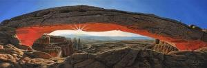Dawn at Mesa Arch Canyonlands Utah by Richard Harpum