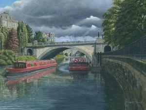 Escaping the Storm - North Parade Bridge Bath by Richard Harpum