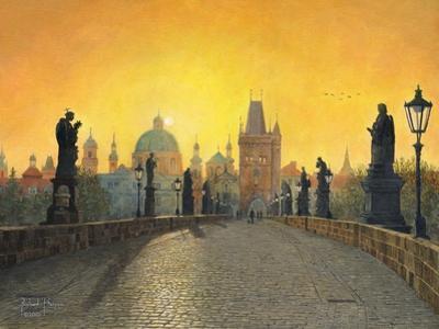 Misty Dawn Charles Bridge Prague