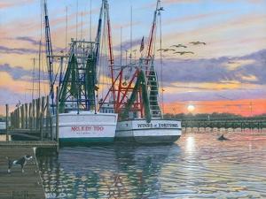 Shem Creek Shrimpers Charleston by Richard Harpum