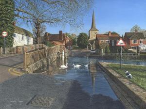 The Ford at Eynsford Kent by Richard Harpum