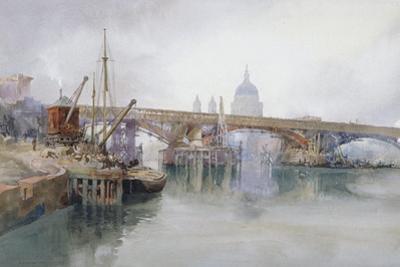 Southwark Bridge in Course of Demolition, 1915