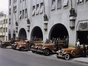 Men and Vehicles of a Fire Department Line Up for an Inspection by Richard Hewitt Stewart