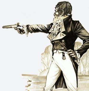 Edwardian Gentleman Duelling with a Pistol by Richard Hook