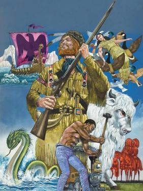 Folk Tales of the American West by Richard Hook